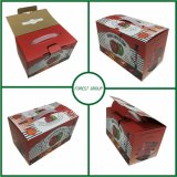 Caja de cartón de embalaje de fruta de cerezas con asa