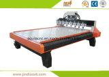 중국 Mechinery 8개의 공기 냉각 스핀들을%s 가진 목제 CNC 기계 대패