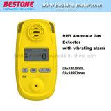 Le NH3, analyseur portable d'ammoniac NH3 détecteur de gaz pour l'ammoniac des eaux usées industrielles avec alarme vibrante Moniteur des gaz d'ammoniac NH3 mètre
