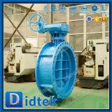 Válvula de mariposa compensada de la oblea del triple caliente del engranaje Dn1200 de Didtek