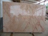 Fleur rose en marbre beige de marbre rouge de dalle de marbre bon marché