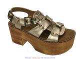 Les femmes évident à l'extérieur les chaussures occasionnelles de santals de cale romaine de plate-forme