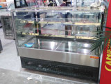 생과자 전시를 위한 우수 품질 사각 스테인리스 케이크 냉각장치 내각
