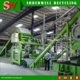 Esmagando o desperdício/sucata/pneu usado ao grânulo que recicl a linha para a venda