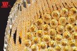 Luz de techo cristalina de oro de lujo