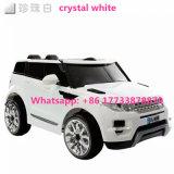 Jouet à télécommande de bébé de véhicules de couleur blanche de Land Rover