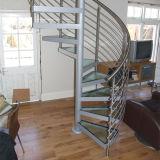 鋼鉄木製の螺旋階段の工場価格