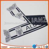 Выдвиженческий шарф футбола Jacuard двойного слоя акриловый с Tassels