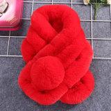 Écharpe de tricotage de luxe de fourrure de lapin de qualité supérieur de femmes