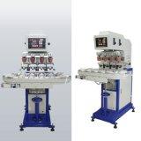 Machine d'impression semi-automatique de garniture de couleur des prix quatre de machine d'impression de garniture avec la machine d'impression de garniture de poussoir de couleur du convoyeur quatre