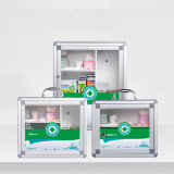 Цвет алюминиевого размера коробки хранения индивидуального пакета большого зеленый