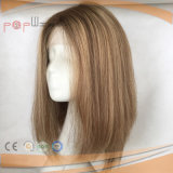 100%の人間の毛髪の絹の上のかつら(PPG-l-0401)