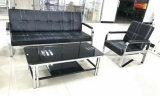 Klassisches Büro-Leder-Sofa mit rostfreiem Rahmen-Sofa-Bett B29# 1+1+3
