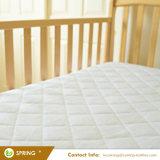 Resistente al agua ultra suave de bambú de fibras de rayón pad protector de colchón de cuna