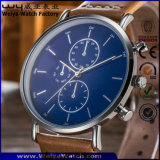 Изготовленный на заказ wristwatch кварца кожаный планки повелительниц способа классицистический (WY-P17013B)