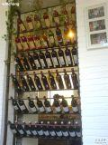 Cabina antigua de madera sólida para el almacenaje casero de madera del vino de los muebles