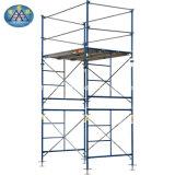 移動可能な電流を通された鋼鉄構築の調節可能な車輪の十字の波カッコの足場材料