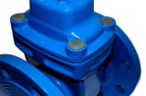 China Fabricante Tipo Flangeado assentado programável de ferro fundido da válvula de gaveta com flanges DN200 PN16
