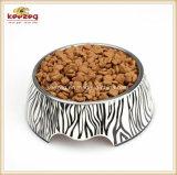Zebra-Muster Melamine&Stainless Stahlhaustier-Hundefilterglocke (KE0003)