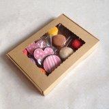 Bonbons en carton Kraft Food Box, du papier cadeau Biscuit Emballage