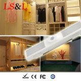 Indicatore luminoso del sensore di notte della camera da letto LED del Governo delle scale del guardaroba per illuminazione di notte