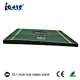 Librete video vendedor caliente del Folleto-Vídeo del LCD de la pantalla de 10.1 pulgadas con alta calidad