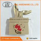 La lumière de l'or de la forme de lapin mignon tourner le verrou pour sac Hjw1650