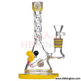 Hb King Glass Water Pipe 17,5 polegadas Silver-Gilt Glass Smoking Water Pipe