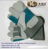 Handschoenen van het Werk van het Leer van de koe de Gespleten