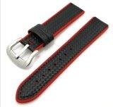 Силиконовый чехол из углеродного волокна для просмотра 38/42мм часы ремешок Watchband резиновый браслет водонепроницаемый для Iwatch ремня безопасности