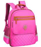 Personnalisation de sac à dos d'école de pente du sac d'épaule de la fille du garçon du logo personnalisé par cartable des enfants 1X roses double 1-3-4-6