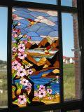도매 예술 패턴 스테인드 글라스 위원회 Windows