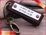 Firmenzeichen-ledernes Schlüsselketten-Leder-Schlüsselring förderndes Keychain