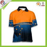 Neue Entwurf Yello Golf-Bowlingspiel-Hemd-Oberseite-Marke schließt kundenspezifisches Mens-Hemd kurz