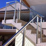 쉬운 2017 현대 디자인은 층계를 위한 긴장 철사 스테인리스 케이블 방책을 설치한다