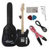 Großverkauf verbilligte auf lager billig eingebrannte elektrische Gitarre