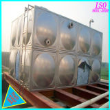 O tanque de água de aço do tipo quadrado