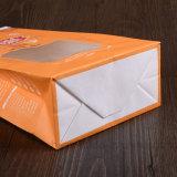 Bolsas de papel de Brown Kraft de la impresión de la insignia con la ventana para las palomitas/la tuerca