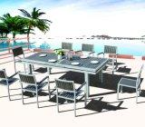 Jardín Del Patio al Aire Libre Home Hotel Office bajo la mesa de comedor y una silla (J675)