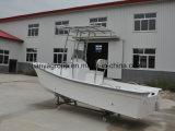 中国19FT 8人の乗客グループの余暇のガラス繊維のボートの沖釣りのボート