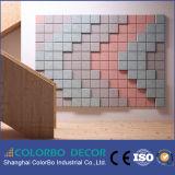 Панель стены форменный панели деревянных шерстей декоративная акустическая