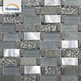 熱い販売小さいチップ灰色のきらめきのガラス混合された石造りの金属ガラスのモザイク