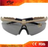 Vidros de tiro dos riscos dos óculos de proteção militares plásticos táticos por atacado anti