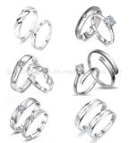 Ring van de Vinger van het Kristal van de Juwelen van de Manier van de Verkoop van de douane de Hete