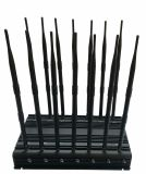 Funksprechgerät 35W UHFvhf-Hemmer-Blocker, hohe Leistung GPS u. WiFi Handy-Signal Jamer, Hemmer für 2g+3G+2.4G+4G+GPS+Lojack+ Fernsteuerungs+UHF/VHF Hemmer