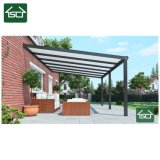 Sturdy Aluminum Frame Hollow Polycarbonate Balcony Cover Patio