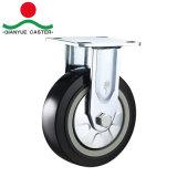Echador industrial del eslabón giratorio resistente estupendo de la PU de 4 pulgadas, echador de la carretilla