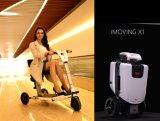 折るImoving X1 2017の年配者Peopieの、流行、安全、スマート、電気、携帯用小型スクーター