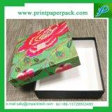 Caixa de papel elegante de empacotamento da caixa de pano do presente do papel de tampa