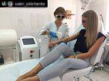Máquina aprobada por la FDA del retiro del pelo del laser de Dio 808 RF de la venta entera